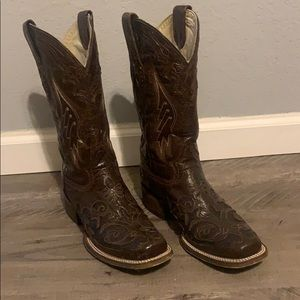 Corral Vintage boots Brown with snake inlay